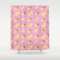 pills Shower Curtains featuring Pills by Kelly Gillin-Schwartz
