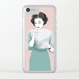 Audrey Clear iPhone Case