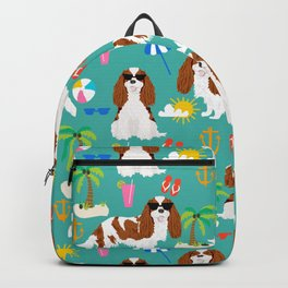 Cavalier King Charles Spaniel beach day tropical vacation socal sunshine Backpack
