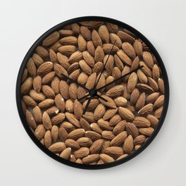Almond. Background. Wall Clock
