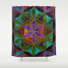 The Flower of Life (Sacred Geometry) 2 Shower Curtain
