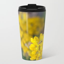 Ladybug in a Yellow Lupin, Dunedin, New Zealand Travel Mug