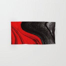 Abstract art red and blacks Hand & Bath Towel