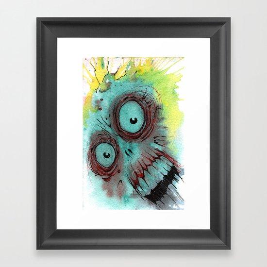 Frenzied Zombie Framed Art Print