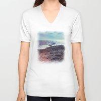 salt water V-neck T-shirts featuring Salt Water by Viviana Gonzalez