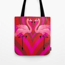 Flamingo Love Tote Bag