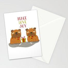 Brussels Griffon Peace , Love, Joy Stationery Cards