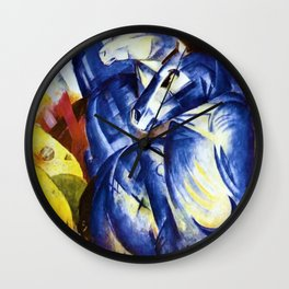 The Tower of Blue Horses by Franz Marc Wall Clock