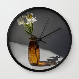 Shadow and Flower #2 Wall Clock