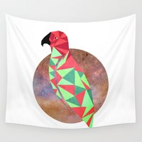 wesley bird Wall Tapestries featuring Bird by Mehdi Elkorchi