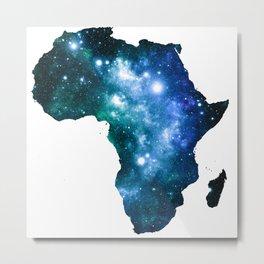 Africa Universe Blue Green Metal Print