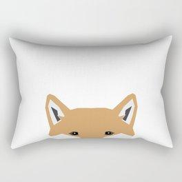 Shiba Inu peeking dog head pet art shibas unique pure breed gifts Rectangular Pillow
