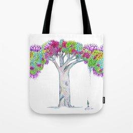 Rainbow Tree Huia Art Tote Bag