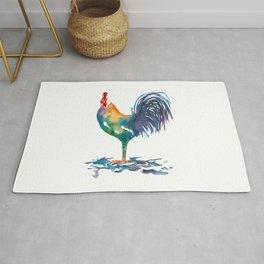 Rainbow Rooster II Rug
