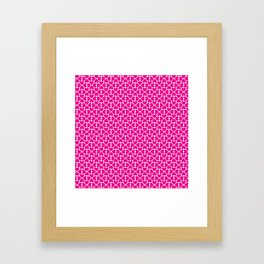 Pink Trefoil Framed Art Print