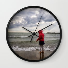 Beach Girl Wall Clock