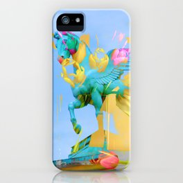 The Fly of Angelic Flowers - Digital Mixed Fine Art iPhone Case