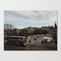 edinburgh Canvas Prints featuring Edinburgh by Nicola Jewell