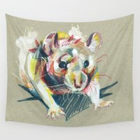 rat Wall Tapestries featuring Baby rat by Nuance
