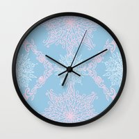 bubblegum Wall Clocks featuring Bubblegum by Samera Tseng