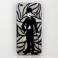 charlie chaplin iPhone & iPod Skins featuring Charlie Chaplin by Gabrielle Wall