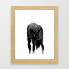 black dog Framed Art Print