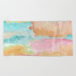 Abstract Watercolor - Design No.1 Beach Towel