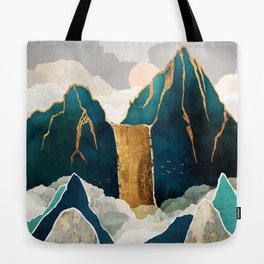 Golden Waterfall Tote Bag