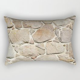 old quarry stone wall Rectangular Pillow