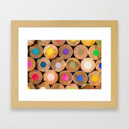 COLORED PENCILS 3 Framed Art Print