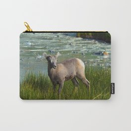 Baby big horn sheep in Jasper National Park Carry-All Pouch