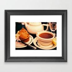 Jordan Pond Tea Framed Art Print