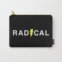 Radical - White on Black Carry-All Pouch