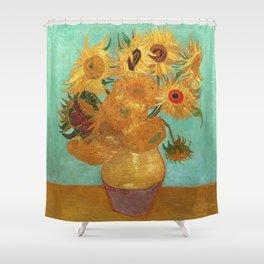 Vincent Van Gogh Twelve Sunflowers In A Vase Shower Curtain