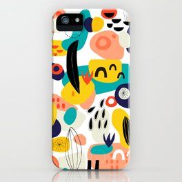 Abstract  Shapes Pattern iPhone Case