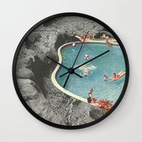 eddie vedder Wall Clocks featuring is this the place that they call paradise? by Jesse Treece