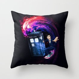 Doctor Who Space Surfing Throw Pillow
