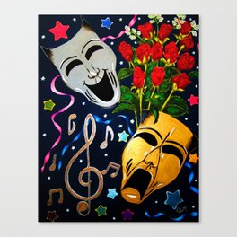 Thalia/Melpomene Canvas Print
