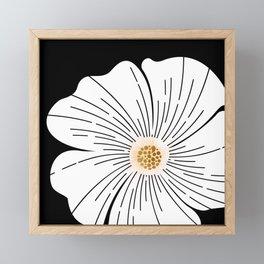Black and White Blossom Framed Mini Art Print