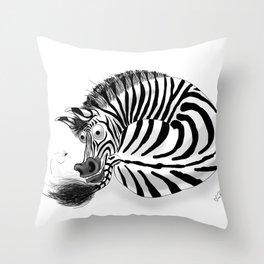 Zebra / Cebra Throw Pillow