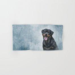 rottweiler dog Hand & Bath Towel