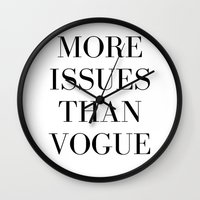 vogue Wall Clocks featuring #VOGUE by YUNG-GOD
