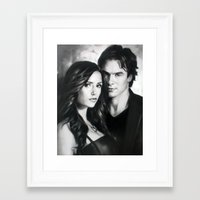 the vampire diaries Framed Art Prints featuring The Vampire Diaries by MasterpieceDirect