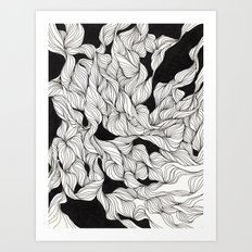 Abstract curlicues Art Print