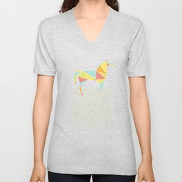 Origami Horse by Friztin Unisex V-Neck