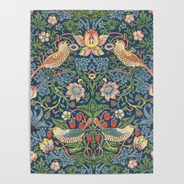 Strawberry Thief - Vintage William Morris Bird Pattern Poster