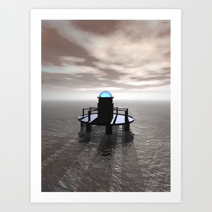 Structure In Ice At Dawn Art Print
