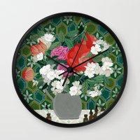 perfume Wall Clocks featuring Making perfume by Yuliya