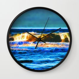 Abstract rolling waves Wall Clock