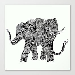 Snakelephant Indian Ink Hand Draw Canvas Print